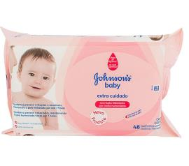 Toalha umedecida Johnsons Baby Extra Cuidado 48 unidades