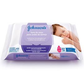 Toalha umedecida Johnson's Baby Hora do Sono 48 unidades