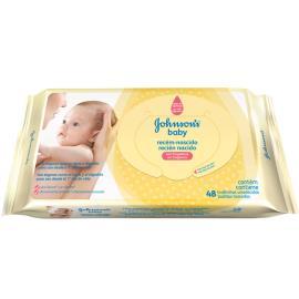 Toalha umedecida Johsons Baby recém nascidos 48unidades