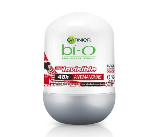 Desodorante Garnier bí-o Roll on Men Invisible Black,White and Colors 50ml - Imagem em destaque