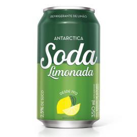 Refrigerante Antárctica Soda sabor limão lata 350ml