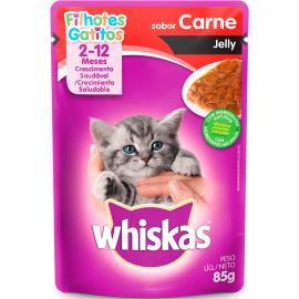 Alimento para gatos Whiskas carne filhotes 85g
