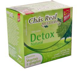 Chá Real detox natural vegetal gengibre 10g