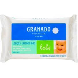 Lenço Umedecido Granado Bebê Erva Doce 50 unidades