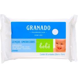Lenço Umedecido Granado Bebê Lavanda 50 unidades