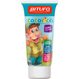 Gel dental Bitufo Personagens tutti frutti com flúor 90g