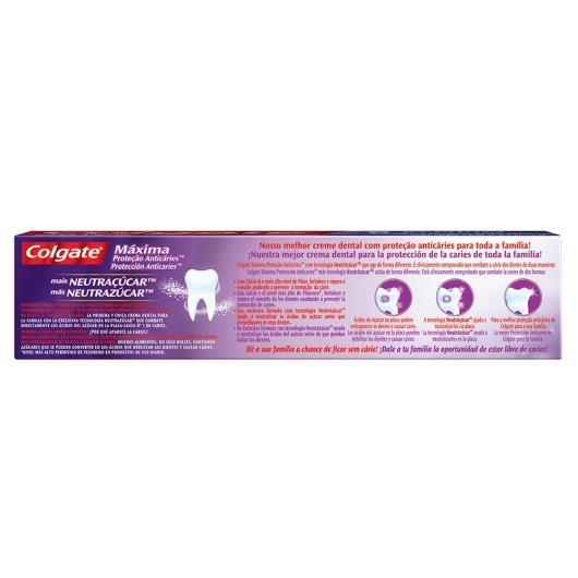 Creme Dental Colgate Máx. Proteção Anticáries + Neutraçucar 70g - Imagem em destaque