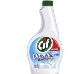 Refil limpador Cif Ultra rápido banheiro sem cloro 500ml