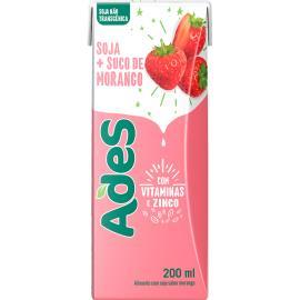 Bebida de soja Ades morango 200ml