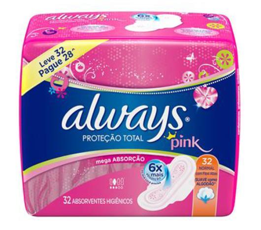 Absorvente Always Proteção Total Suave com abas 32 unidades - Imagem em destaque