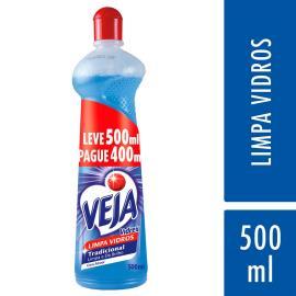 Limpador Veja limpa vidros Vidrex tradicional Squeeze Leve 500ml Pague 400ml