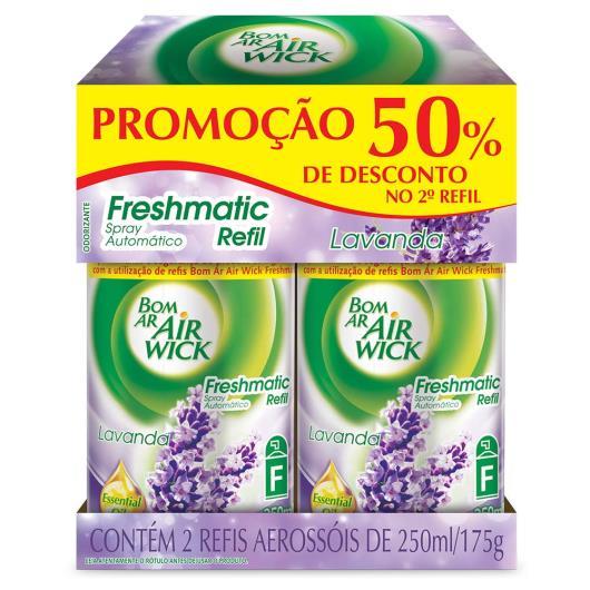 Odorizador Bom Ar Air Wick Freshmatic Lavanda 50% Desconto REFIL com 2 unidades 175g - Imagem em destaque