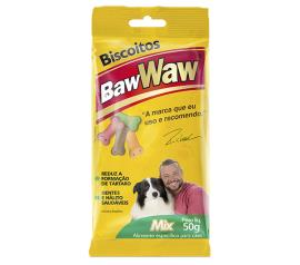 Alimento para cães Baw Waw biscoito mix 50g