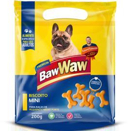 Petisco para cães Baw Waw biscoito mini 200g