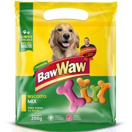 Petisco para cães Baw Waw biscoito mix 200g