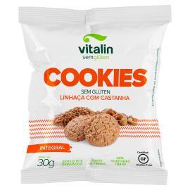 Cookies Vitalin linhaça dourada com castanha 30g