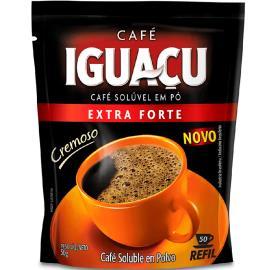 Café Iguaçu solúvel em pó cremoso extra forte sachê refil 50g