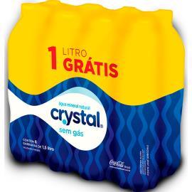 Água Mineral Crystal Sem Gás 8 x 1,5 Litros (PACK)