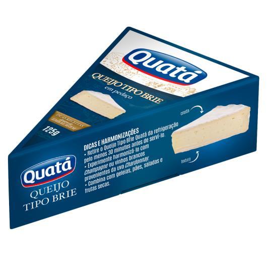 Queijo Quatá Tipo Brie Pedaço 125g - Imagem em destaque