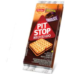 Biscoito Marilan PitStop Recheio chocolate 124g