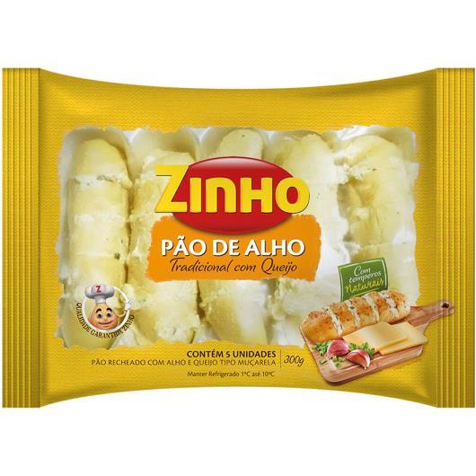 Pão de Alho Zinho tradicional recheado com queijo 300g - Imagem em destaque