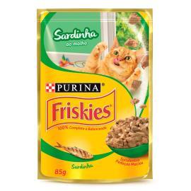 Alimento gatos Friskies adulto sardinha molho sachê 85g