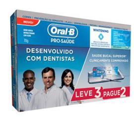 Creme dental oral b pro-saude leve 3 pague 2 70gr cada