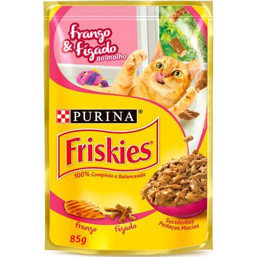 Alimento gatos Friskies frango e fígado molho sachê 85g - Imagem em destaque