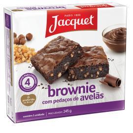 Bolo jacquet brownie pedaços de avelã 245g
