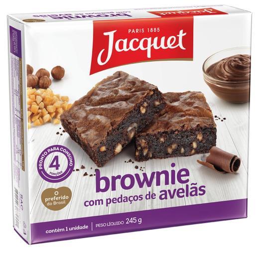 Bolo jacquet brownie pedaços de avelã 245g - Imagem em destaque