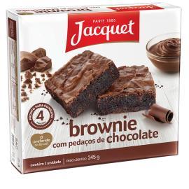 Bolo jacquet brownie pedaços de chocolate 245g