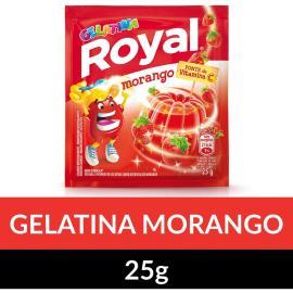 Gelatina em pó Royal Morango 25g