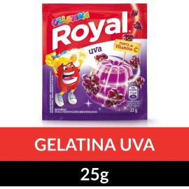 Gelatina em pó Royal Uva 25g