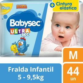 Fralda Descartável Babysec Ultrasec Galinha Pintadinha M 44 unidades