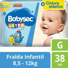 Fralda Descartável Babysec Ultrasec Galinha Pintadinha G 38 unidades