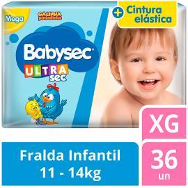 Fralda Descartável Babysec Ultrasec Galinha Pintadinha XG 36 unidades
