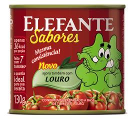 Extrato de tomate Elefante Louro lata 130g