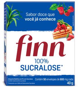 Adoçante Finn 100% Sucralose em pó 50 unidades 40g