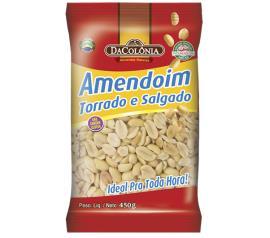 Amendoim Dacolonia Torrada Salgada 450g