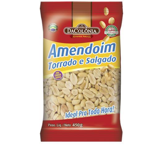 Amendoim Dacolonia Torrada Salgada 450g - Imagem em destaque