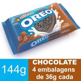 Biscoito OREO Chocolate (4 Unidades) 144g
