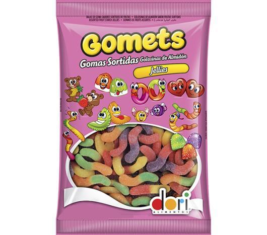 Bala Gomets Minhocas Sabor Frutas 190g - Imagem em destaque