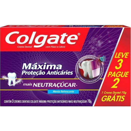 Creme Dental Colgate Máxima Proteção Anticáries + Neutraçúcar 70g Leve 3 Pague 2 - Imagem em destaque