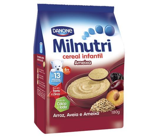 Cereal Milnutri Infantil Arroz Aveia e Ameixa 180g - Imagem em destaque