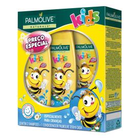 2 Shampoos + 1 Condicionador Palmolive kids 350ml cada