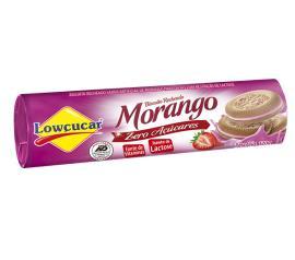 Biscoito Recheado Lowçucar Morango 120g