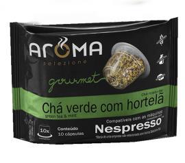 Chá Aroma Gourmet Verde com Hortelã 25g