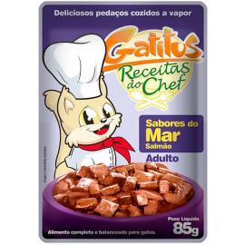 Alimento para Gatos Gatitus Adulto Sabores do Mar 85g