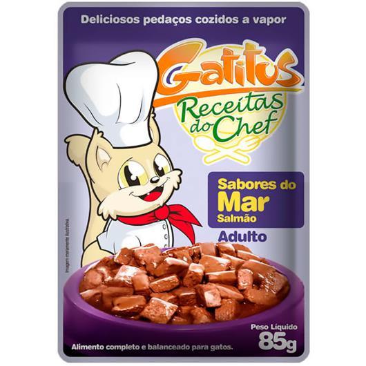 Alimento para Gatos Gatitus Adulto Sabores do Mar 85g - Imagem em destaque