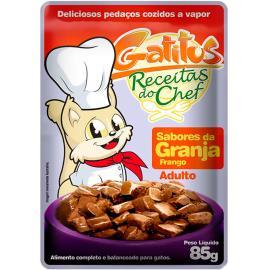 Alimento para Gatos Gatitus  Granja Frango 85g
